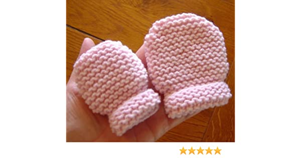 French Baby and Toddler Thumbless Mittens Knitting Pattern