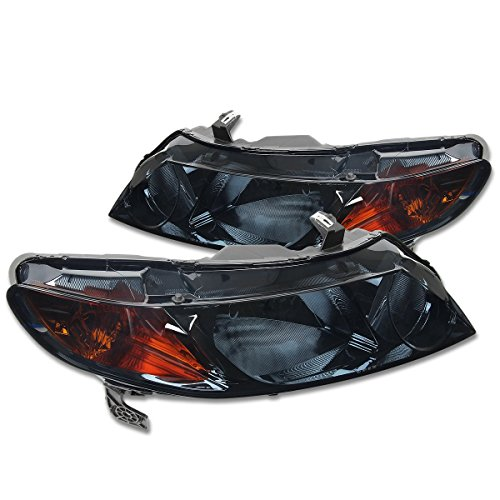 - DNA MOTORING HL-OH-HC064D-SM-AM Headlight Assembly, Driver and Passenger Side