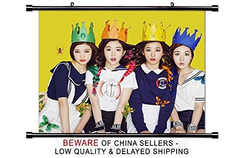 Red Velvet Kpop Group Wall Scroll Poster