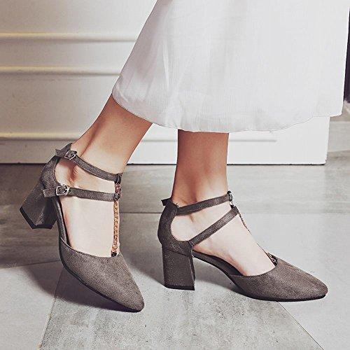 Shoes Caviglia Elegante Cinturino E Con Mee Alla Tacco Medio AfdUWqw