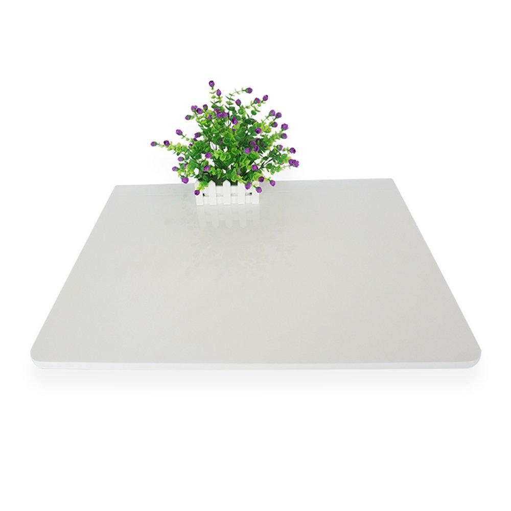 FEIFEI 折りたたみ式壁掛けドロップリーフテーブル、コンピュータデスク子供用テーブルデスク、キッチンダイニングテーブル、75 * 60CM、白、ナチュラルカラー スペースを節約する (色 : 白) B07DL5FZGN白