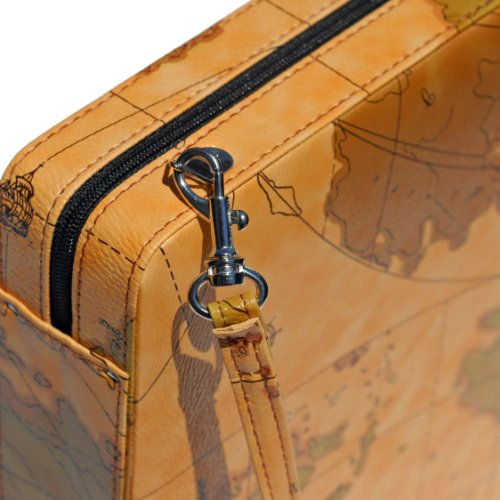 WE Games Tan Map Style Travel Backgammon