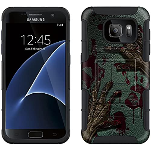 Samsung Galaxy S7 Armor Hybrid Case Zombie Hands 2 Piece Case with Holster for Samsung Galaxy S7 Sales