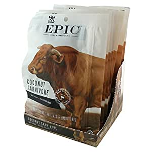 Epic Hunt & Harvest, 100% Grass Fed, Beef Jerky, Coconut Carnivore Mix, 2.25 ounce, 8 Count