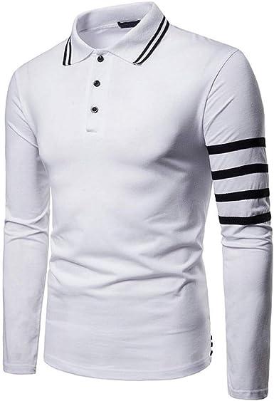 Camisa con Mangas largas de Moda Camisa Blanca Solapas de Manga Larga Top @ White_M: Amazon.es: Ropa y accesorios