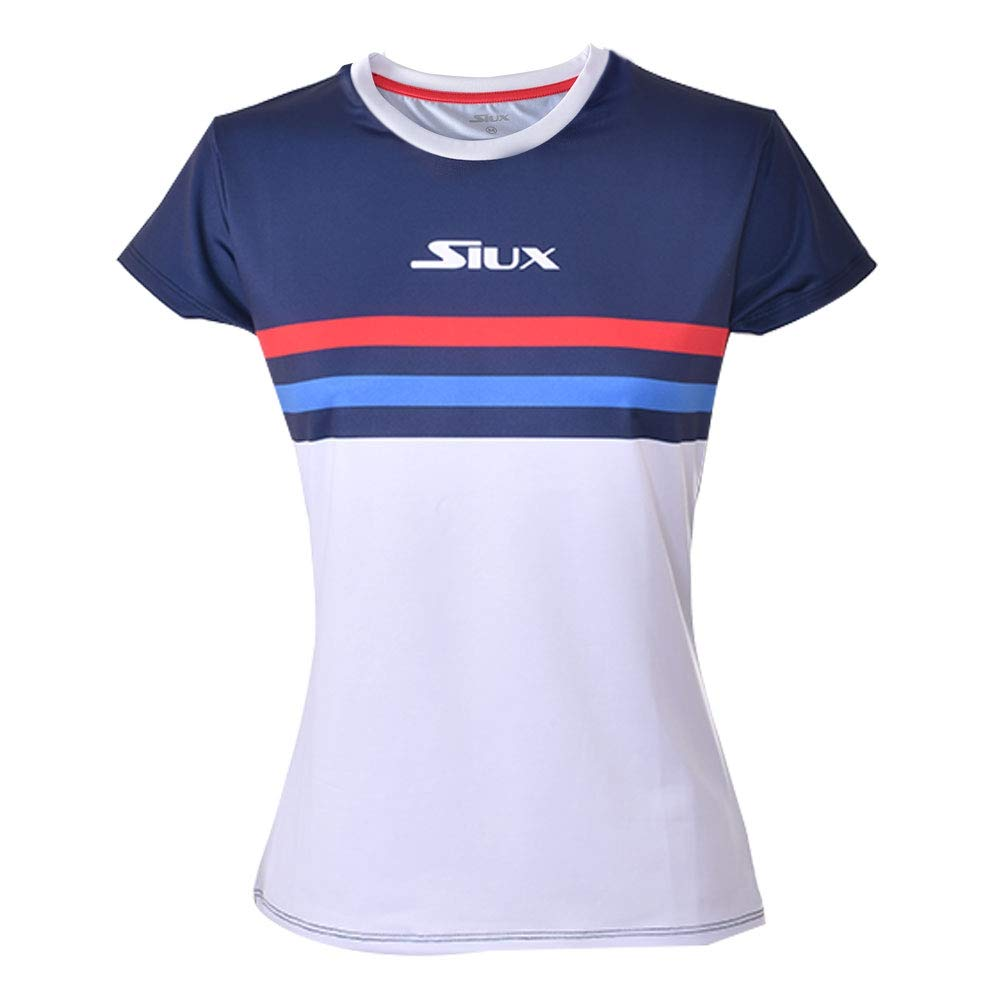 Siux Camiseta Luxury Azul Marino Blanco Mujer: Amazon.es ...