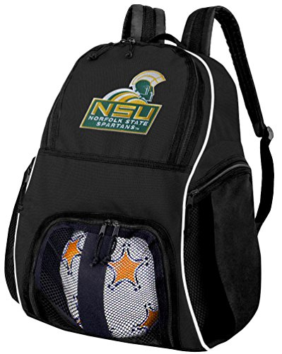 Broad Bay Norfolk State University Soccer Backpack or NSU Spartan Volleyball Bag by Broad Bay