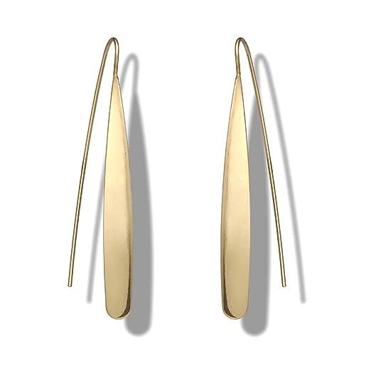 Namgiy - Pendientes Largos con diseño de Orejas y Aros para Mujer ...
