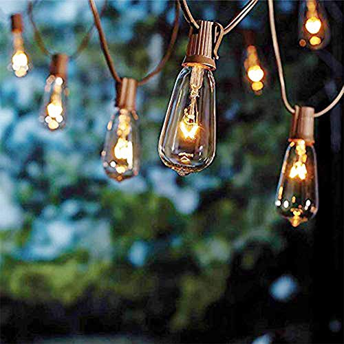 Monkeydg 10FT String Lights ST40 Outdoor Patio Edison