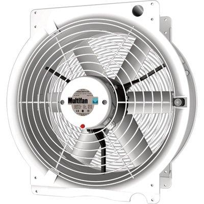 Multifan 20in. Q Greenhouse Fan - 4750 CFM, 1/2 HP, 120 Volt, Model Number T4E50K3M81100 by Multifan