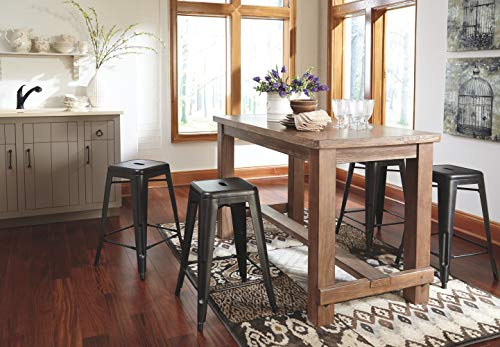 Ashley Furniture Signature Design - Pinnadel Counter Dining Table - Weathered Brown Finish w/ Gray Undertones by Signature Design by Ashley (Image #10)