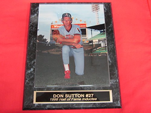 J & C Baseball Clubhouse California Angels Don Sutton Collector Plaque w/8x10 Color Photo