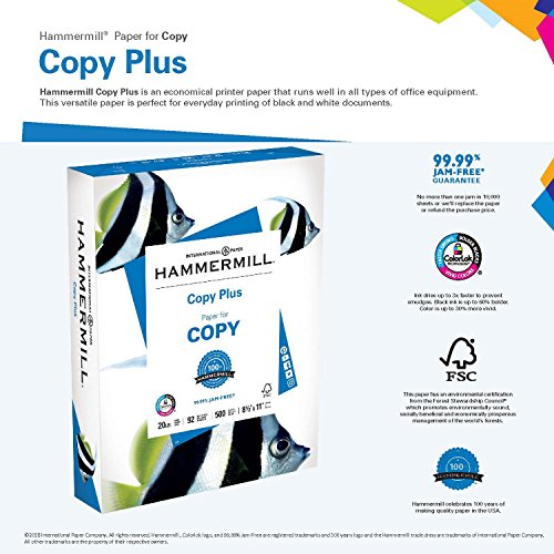 Amazon hammermill paper copy plus paper 85 x 11 paper amazon hammermill paper copy plus paper 85 x 11 paper letter size 20lb paper 92 bright 1 ream 500 sheets 105007r acid free paper dummy wajeb Image collections