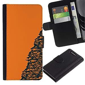 // PHONE CASE GIFT // Moda Estuche Funda de Cuero Billetera Tarjeta de crédito dinero bolsa Cubierta de proteccion Caso Sony Xperia Z3 Compact / Orange Japanese Temple /