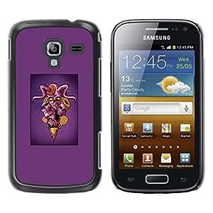 Samsung Galaxy Ace 2 , Purple Horned Skull Ice Cream - Pop Art - Cáscara Funda Case Caso De Plástico