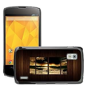 Super Stellar Slim PC Hard Case Cover Skin Armor Shell Protection // M00049382 wall wood creative beach sunrise // LG NEXUS 4