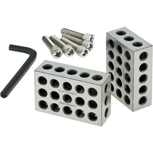 Brown & Sharpe 599-750-10 1-2-3 Blocks Set