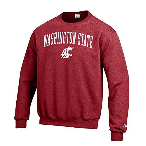 (Elite Fan Shop Washington State Cougars Crewneck Sweatshirt Varsity Crimson - M )