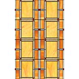 DC Fix 346-0437 Arts and Crafts Stained Glass Window Film, Orange