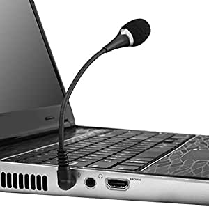 Insten VOIP / SKYPE Mini Flexible Microphone For VOIP / SKYPE - Black