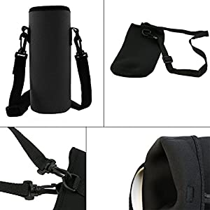 Wrisky 750ML Neoprene Water Bottle Carrier Insulated Cover Bag Holder Strap Travel