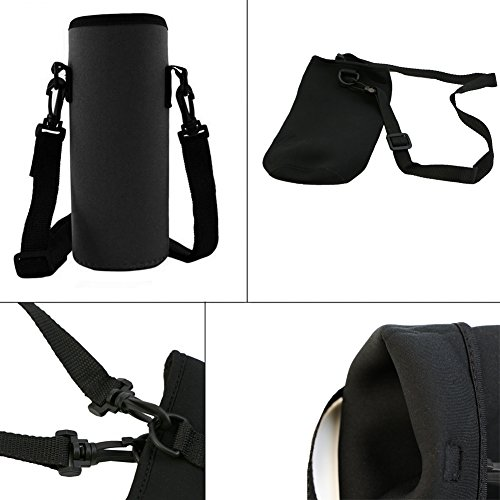 Neoprene Water Bottle Carrier Insulated Cup Cover Bag Holder Pouch with Str BRUS