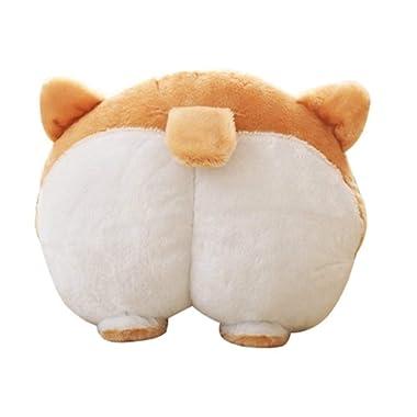 Nova Republic- Cute Corgi Butt Throw Pillow,Pets Puppy Neck Support Pillow Cushion,Travel Pillows Stuffed Toy Gifts