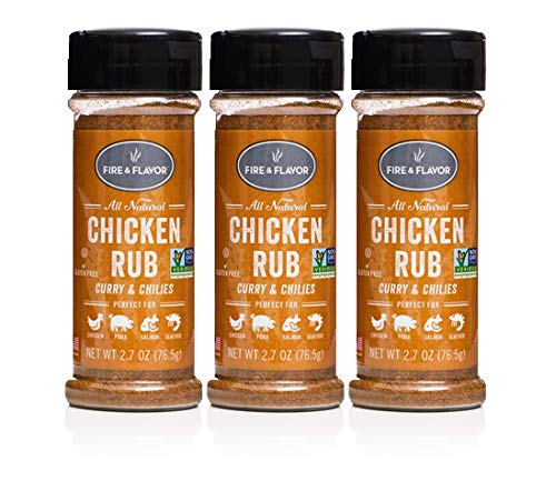 Fire & Flavor Natural Chicken Rub, 2.7 Ounce, Pack of 3