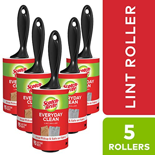 Scotch-Brite Lint Roller Value Pack, 5-Rollers, 95-sheets/Roller