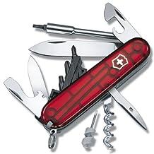 Victorinox Cyber 29 Pieces 1.7605.T Couteau Suisse de poche Rouge Transparent