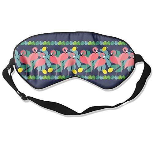 Ming Horse Adult Children Unisex Flamingo Lemon Stripe Eyeshade Sleep Mask Eye Mask
