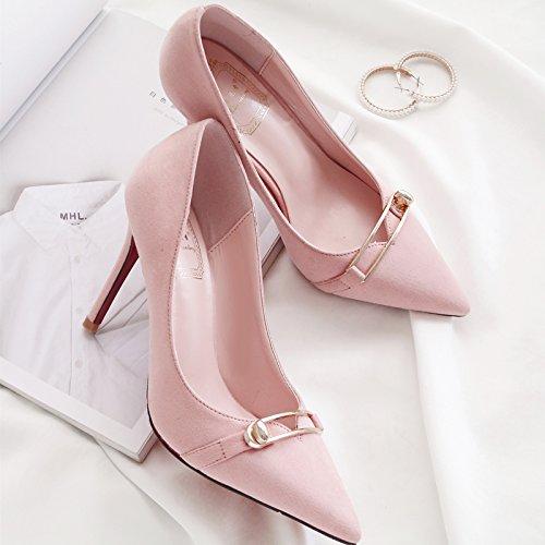 la per nove solo rosa donna in 37 con ragazza tacchi wild raccontare scarpe nero i bella estate ha scarpe scarpe Choo alti centimetri sottolineato fqw8nP