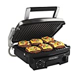 Proctor Silex 5-in-1 Indoor Countertop Grill, Griddle & Panini Press  (25340)