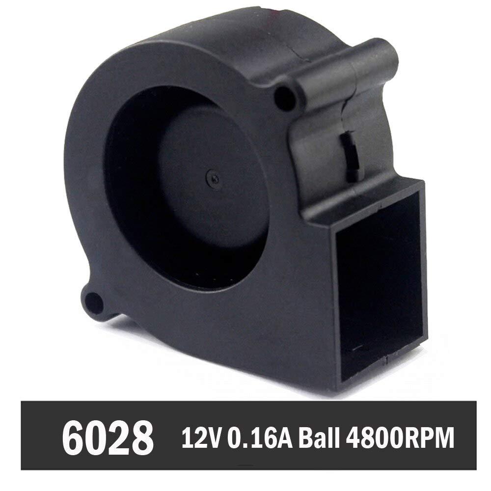 5pcs Gdstime Ball 12V 0.16A 60mm 60x28mm Turbine DC Blower Small Fan 6028 Industrial Cooling Fan