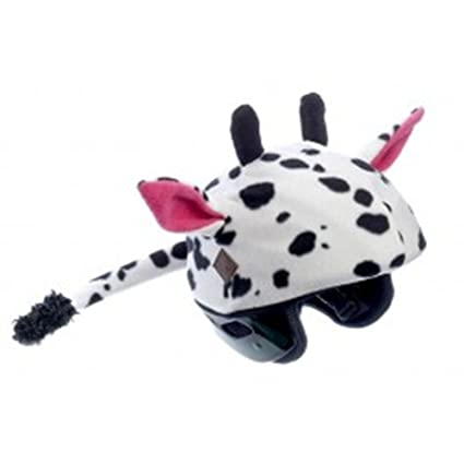 Cow Helmet Cover - One Size Fits All Kids Sports Helmets - For Bike, Skateboard