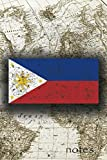 Notes: Beautiful Flag Of Philippines Lined
