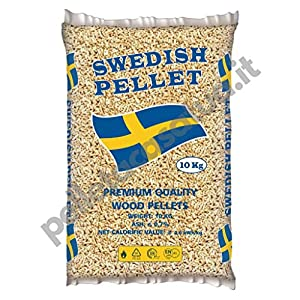 PELLET SWEDISH 100% ABETE - ENPLUS A1 - ALTO POTERE CALORIFICO (30 SACCHI DA 10 KG) 518XGy6w0vL. SS300