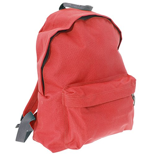 BagBase - Bolso mochila  para mujer Coral/gris claro