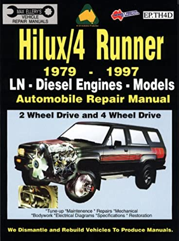 toyota hilux 4 runner diesel 1979 1997 auto repair manual ln diesel rh amazon com 2002 Toyota Sequoia Fuel Filter Vehicle Repair Manuals