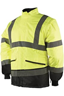 SIOEN 347AN2ES30652XL Malbro bomber jacket with detachable sleeves XX-Large Hi-Vis Yellow//Navy