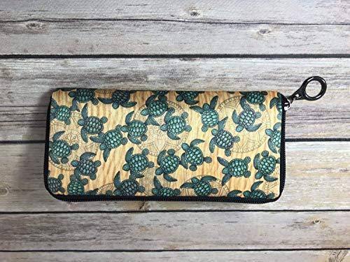 (Baby Sea Turtle Ladies Soft Wallet by Dan Morris)