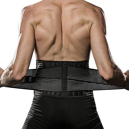 Veadoorn Waist Brace, Waist Back Support Unisex Men Abdominal Trainer Back Support Elastic Compression Waist Belt for Sports,Fitness,Workout(XL)