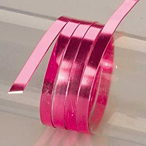 EFCO 1 x 2 mm x 5 m Aluminium Anodised Flat Wire, Bright Pink