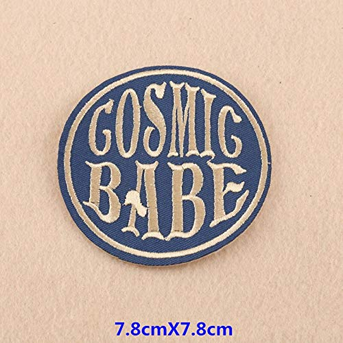 Embroideri Patch - 2019 Cool Iron Patches Nope Heart Parch Star Stripe Embroidered Applique Stickers Badge Diy - Sticker Iron Wall Star Cloth Thermal Star Star Patch Chemo Embroideri Pendant P ()
