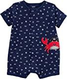 Carter's Baby Boys' Crab Snap-up Cotton Romper 18
