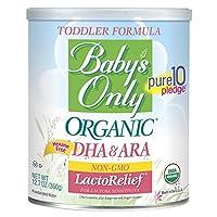LecheRelief orgánica para bebés sin DMO con fórmula DHA & ARA para niños pequeños, 12.7 oz