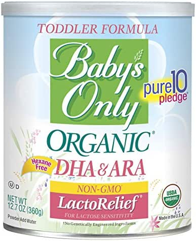 Baby Formula: Baby's Only LactoRelief