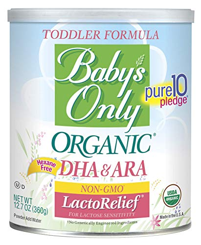 Baby's Only LactoRelief with DHA & ARA Toddler Formula - Non GMO, USDA Organic, Clean Label Project Verified,  12.7 oz