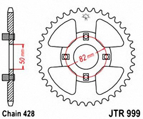 JT Sprockets JTR999.42 42T Steel Rear Sprocket