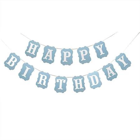 SYSFOUR Nuevo Feliz cumpleaños Bunting Banner Feliz ...